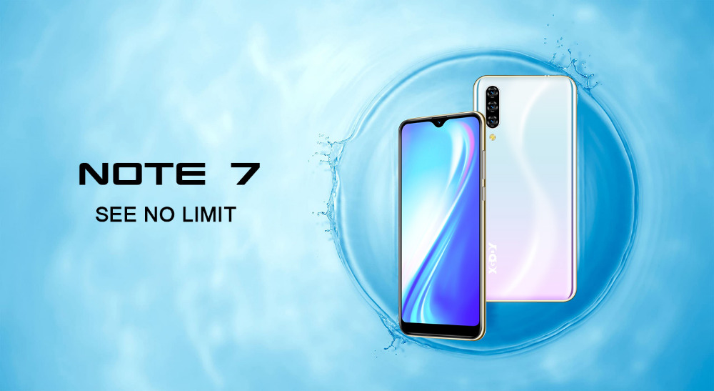 Xgody 3G teléfono móvil Note7 2GB 16GB Smartphone 6,26 1