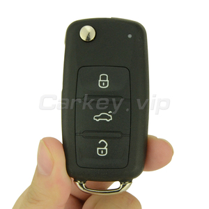 Flip car remote key for VW Volkswagen Beetle Golf Eos Polo Sharan 2011 2012 2013 3 button 5K0 837 202 AD ID48 434Mhz remotekey