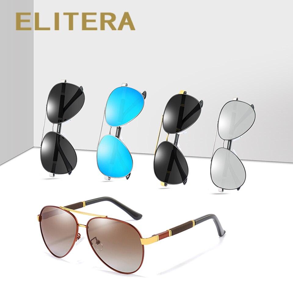 ELITERA Men Vintage Alloy Polarized Sunglasses Classic Brand Sun glasses Coating Lens Driving Shades For Men/Women
