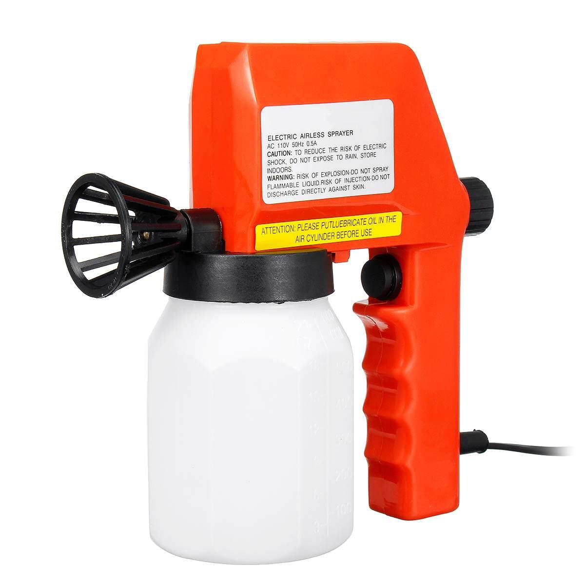 45 Вт Электрический безвоздушный распылитель краски, бак, регулируемые ручные пульверизаторы, электроинструмент, 110 В, мерный стакан, насадк