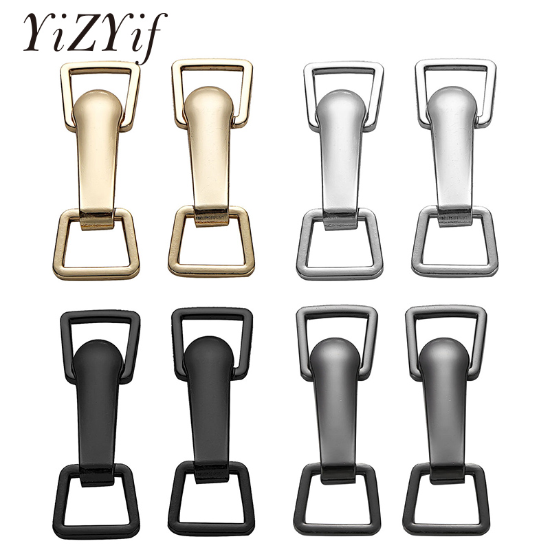 Women Metal Fastener Buttons Combined Buckle Zinc Alloy Decorative Belt Hook Clasp  For Coat Down Jacket DIY Sewing Accessories