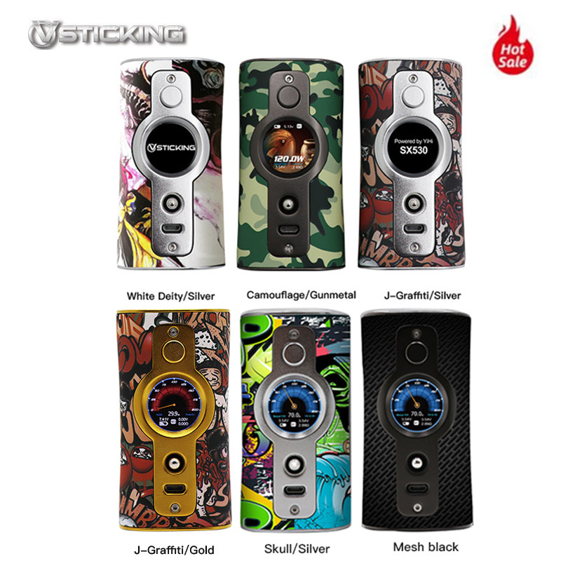 Vsticking VK530 200W Box Mod 18650 YiHi SX530 Chip Powered By Dual 18650 Battery Vape E Cigarette Vaporizer VS Smoant Charon