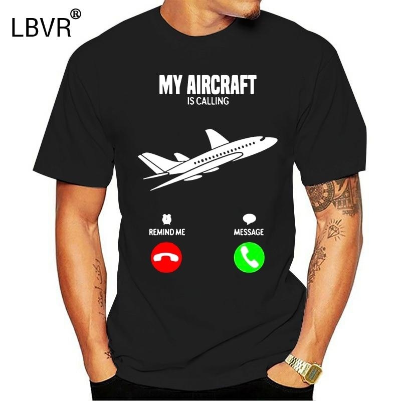 Imprimé drôle t-shirt style décontracté pour hommes Fitness mon avion appelle avion cadeau T-Shirts femme 2020 à manches courtes