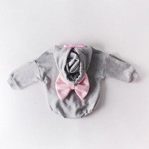 Image 5 - 2020 recién nacido arco lindo letras para bebé con capucha de algodón largo más ropa de manga de Cachemira monos otoño primavera niños niño mameluco