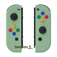 Matcha Green Soft Touch Controller Housing With Colorful Buttons Replacement Shell with Tools for NS Switch Joy Con
