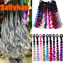 Sallyhair Synthetic Deep Wave Crochet Braids Hair Extensions