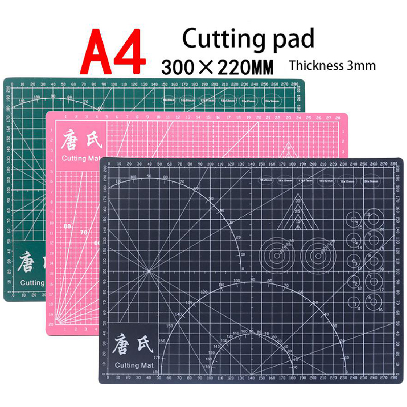 Cutting Board Rubber Stamp Double-sided Cutting Pad A3 Cutting Pad Carving Knife Crafts Diy Cutting Tool Black Core Cutting Pad