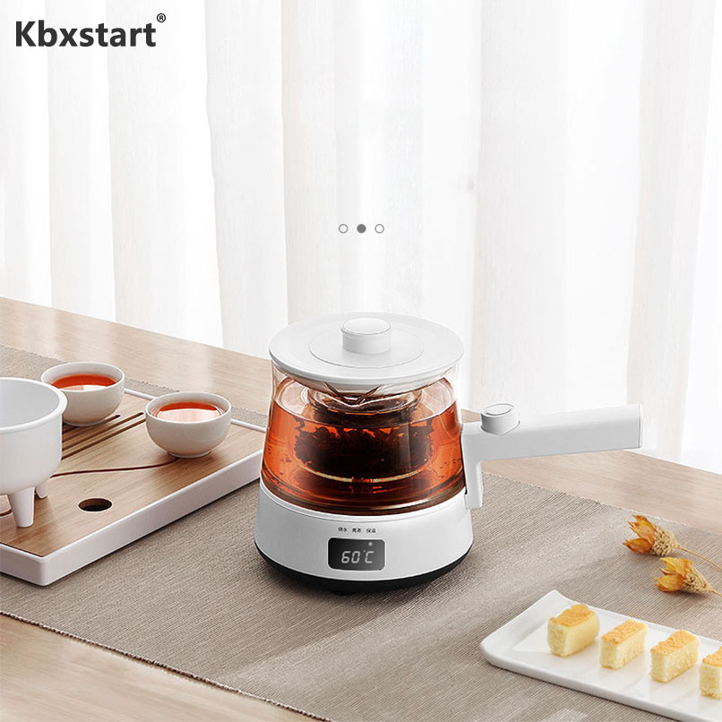 220V Glass Electric Kettle Multifunctional Tea Maker Home Kitchen Automatic Knob Temperature Adjustment Health Pot 500ml