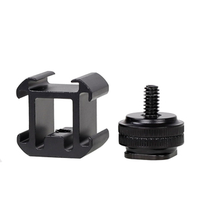 Image 3 - XILETU G3 Cold Shoe Camera Mount Adapter Extend Port for Canon Nikon Pentax DSLR Cameras for Mic Microphone LED Video Fill Light
