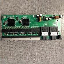 Обратное PoE питание 10/100/1000M гигабитный коммутатор Ethernet волоконно оптический одномодовый 8 RJ45 и 2 SC волоконная материнская плата