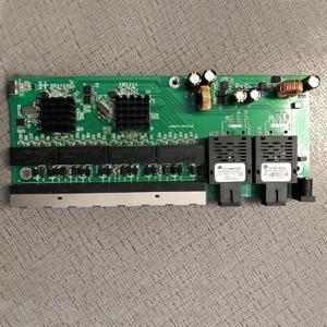 Image 1 - הפוך PoE 10/100/1000M Gigabit Ethernet מתג סיבים אופטי מצב יחיד 8 RJ45 ו 2 SC סיבי האם
