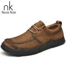 Men Genuine Leather Casual Shoes 2019 New High Quality Men's Shoes Cow Leather Loafers Waterproof Work Shoes Plus Size 38-48 tauntte four season genuine leather casual shoes cow leather men shoes plus size