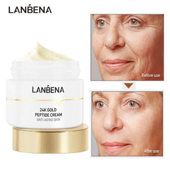 LANBENA 24K Gold Six Peptide Anti-wrinkle Face Cream Hyaluronic Acid Moisturizing Anti-Aging Nourish Lifting Firming Skin Care gold lifting cream