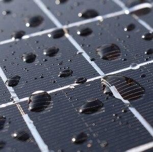 Image 5 - De vidrio de panel Solar 100W 200W 300W 400W rígido Panel Solar monocristalino de la célula solar 12V 12V cargador de batería solar casa techo barco