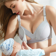 Underwear Lactating Breast-Bra Open Cotton-Wire Nursing Bralette Mama Pregnant-Women