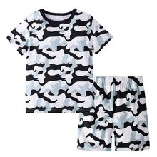 Toddler Baby Men And Women Camouflage Shirt Shorts 2PCS Loaded Summer 2019 NEW Drop Shipping(China)