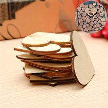 25pcs 50mm Wooden Love Heart Shape Wedding Art Craft Wooden Pendants Ornaments Wedding Favors Home Birthday Party Decorations(China)
