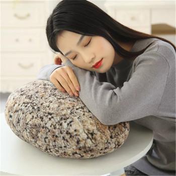 Stone Rock pluszowa zabawka kreatywna brukowiec oparcie modna poduszka dla dzieci prezent dla dzieci poduszka prezent urodzinowy tanie i dobre opinie Dekoracyjne BODY Podróży Pościel AS SHOW Stałe 100 poliester Chłodzenia Klasa a Plac 0-0 5 kg