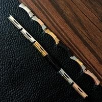 Enlace de extremo curvado sólido de 20mm, 21mm, dorado, plateado, Negro, Rosa y dorado, Endlink, solo para pulsera de reloj Daytona Cuero de goma