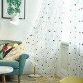 Занавеска из вуали с мультяшной луной  звездой и вышивкой для гостиной и детей  занавески для принцессы  my056C
