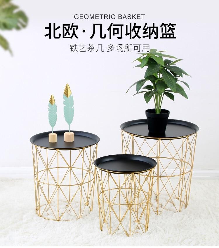 Heat vend ins nordique tie yi petite table à thé salon chambre bord de table ronde quelques géométrie contemporaine et contractée