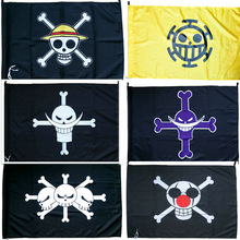 One Piece Flag Banner Straw Hat Pirate Trumpet Banner Flag Home Decor Polyester Banner 96x65cm