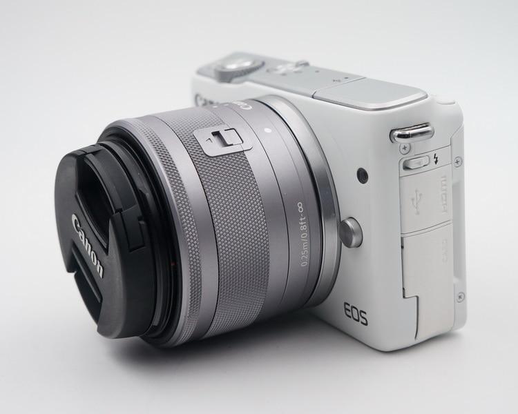 Используется, Canon EOS M10 беззеркальная камера комплект с EF-M 15-45 мм стабилизация изображения STM объектив Комплект (не полностью новый)