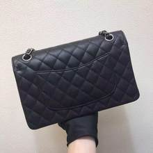 Top Lederen Caviar Schoudertas Klassieke Vrouwen Handtas Mode Hoge Kwaliteit Flip Tas Koeienhuid Messenger Bag