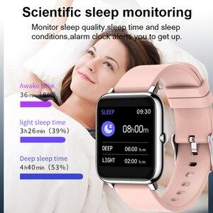 Image 4 - P22 Đồng Hồ Thông Minh Nam Nữ Thể Thao Đồng Hồ Theo Dõi Nhịp Tim Theo Dõi Giấc Ngủ IP67 Đồng Hồ Thông Minh Smartwatch Cho Oppo Android IOS
