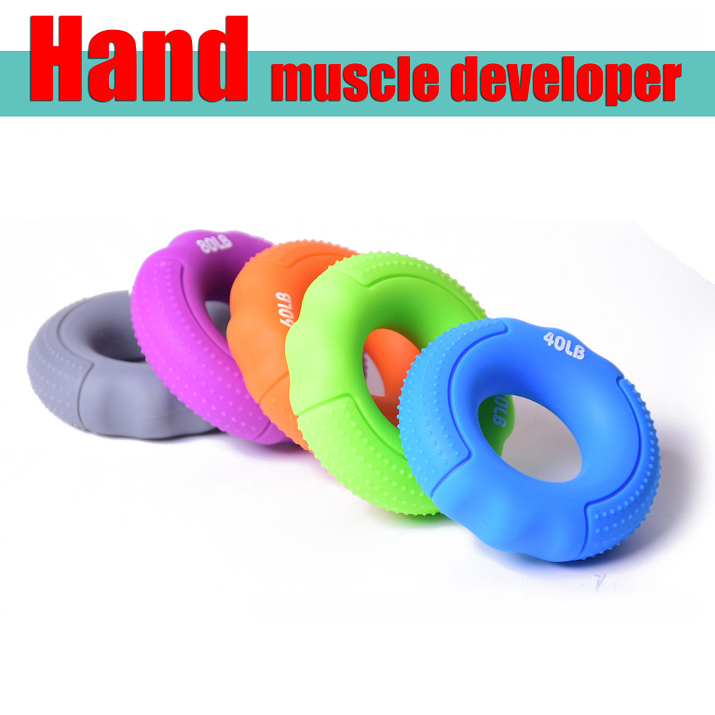 Silica Gel Portable Hand Grip Gripping Ring Carpal Expander Finger Trainer Grip