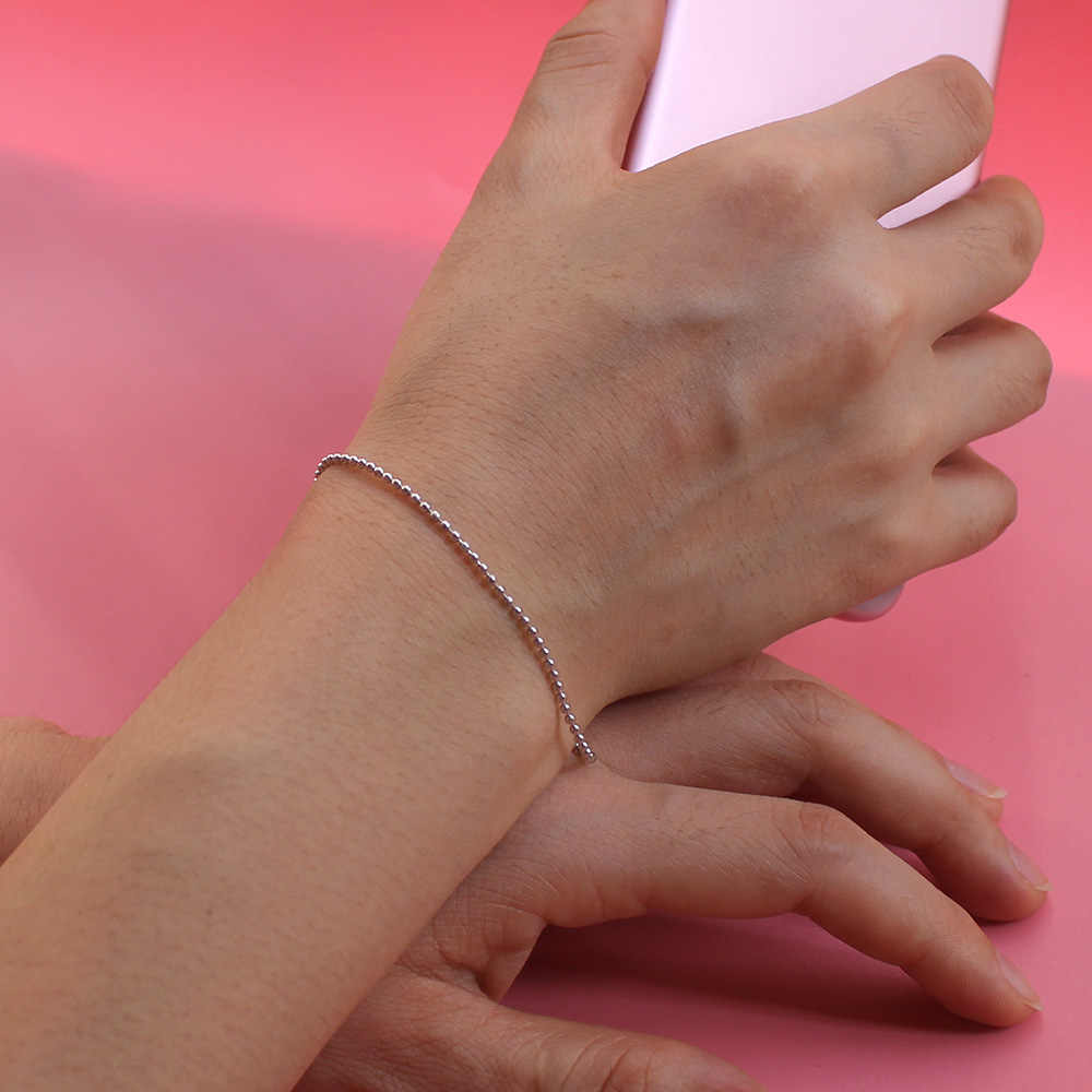 ElfoPlataSi, 100%, 925, твердые, Настоящее серебро, бусины, 925, браслет для женщин, жены, девушек, леди, хорошее серебро, ювелирное изделие, ED63