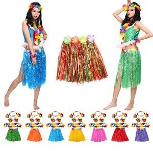 Image 1 - hawaii dekoration Petal Leis Party Beach Flower hawaiian Dress Necklace wreath hawaiian party decorations