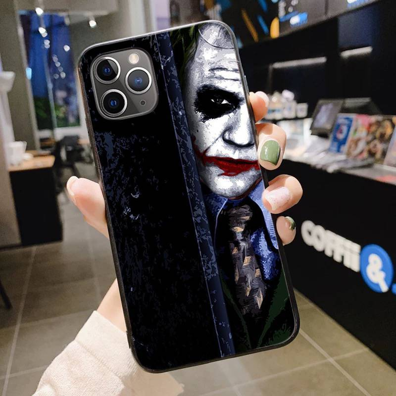 Joker 2019 Wallpaper Diy Luxury High End Phone Case For Iphone 11 Pro Xs Max 8 7 6 6s Plus X 5 5s Se Xr Cover Half Wrapped Cases Aliexpress