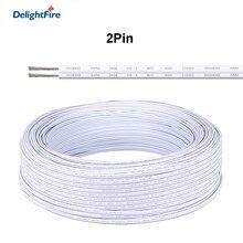 2 pinos cabo branco sm jst cabo de conector led 0.3mm 2 fio de cobre estanhado elétrico 2pin para 5050 tira rígida iluminação led driver