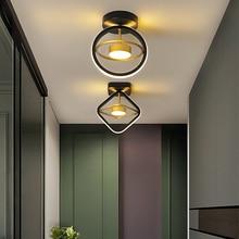 Lámpara de techo Led moderna para decoración de pasillo, accesorios de iluminación para el hogar, dormitorio, restaurante y balcón