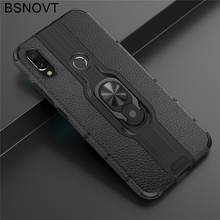 For Xiaomi Redmi Note 7 Case TPU+PC Phone Finger Holder Hard PC Bumper BSNOVT