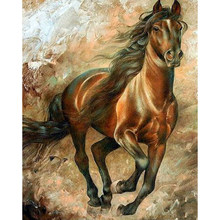 Diamond Painting Full round/square animal horse Mosaic DIY Diamond Painting horse Cross Stitch Embroidery Home Decorative M205(China)