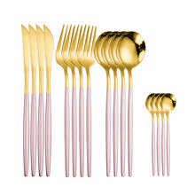 Набор кухонных принадлежностей вилка ложка нож набор золотистых