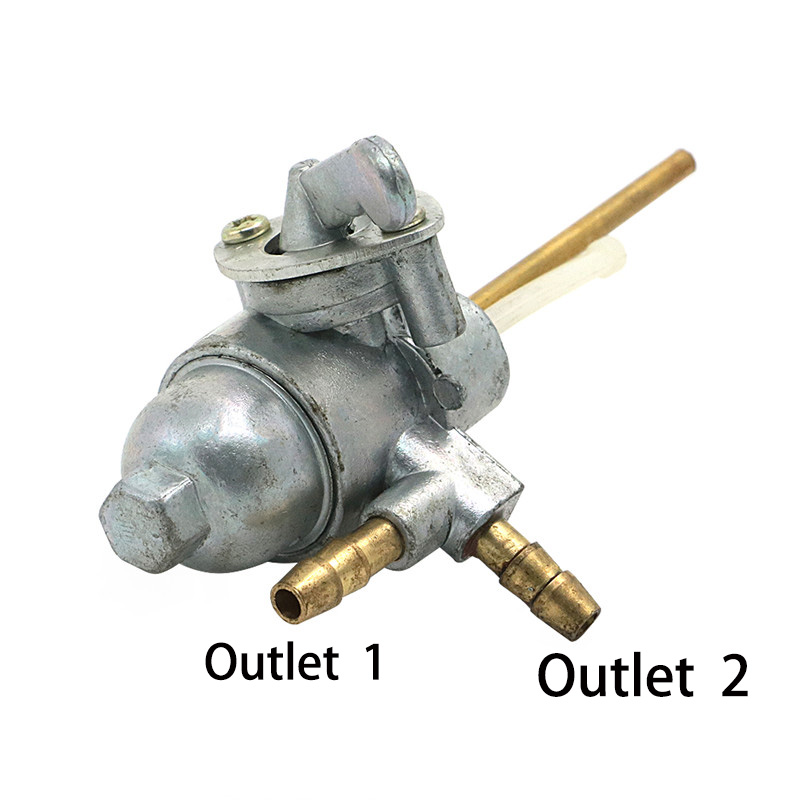 ON/OFF Dual Outlet Fuel Petcock Shut Off Valve Tap Replacement 16950-070-70 For <font><b>Honda</b></font> CB125 XL125 <font><b>XL350</b></font> Gas Engine Tank Switch image