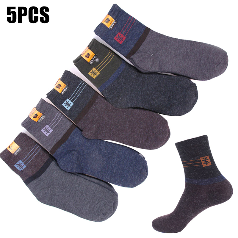 Recém 5 pares/set homens meias de tornozelo outono inverno em casa homem casual tripulação meia fif66