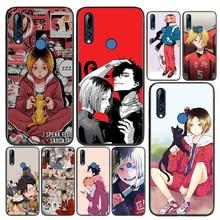Capa de silicone kozume kenma haikyuu anime para huawei honor 9 9x 9n 8s 8c 8x 8a v9 8 7s 7a 7c pro lite prime play 3e caso de telefone