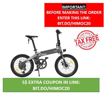[Free Duty]HIMO C20 Foldable Electric Moped Bicycle 250W Motor 25km/h Hidden Inflator Pump Shimano Variable Speed Drive