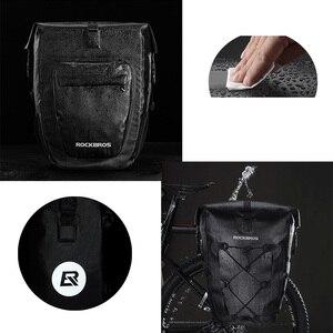 Image 3 - ROCKBROS bolsa impermeable para bicicleta, 27L, cesta de viaje para ciclismo, rejilla trasera, para maletero, accesorios para bicicleta de montaña