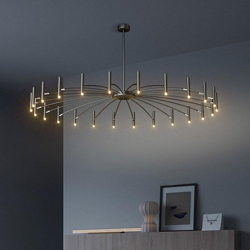 Скандинавская светодиодная люстра, домашняя лампа для гостиной, спальни, современный светодиодный потолочный светильник для освещения
