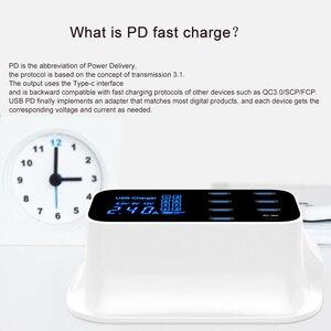 "Image 2 - GOOJODOQ פ""ד מטען 40W 8 יציאת USB מטען חכם LED תצוגת USB מהיר טעינה עבור Apple iPhone מתאם ipad xiaomi סמסונג"