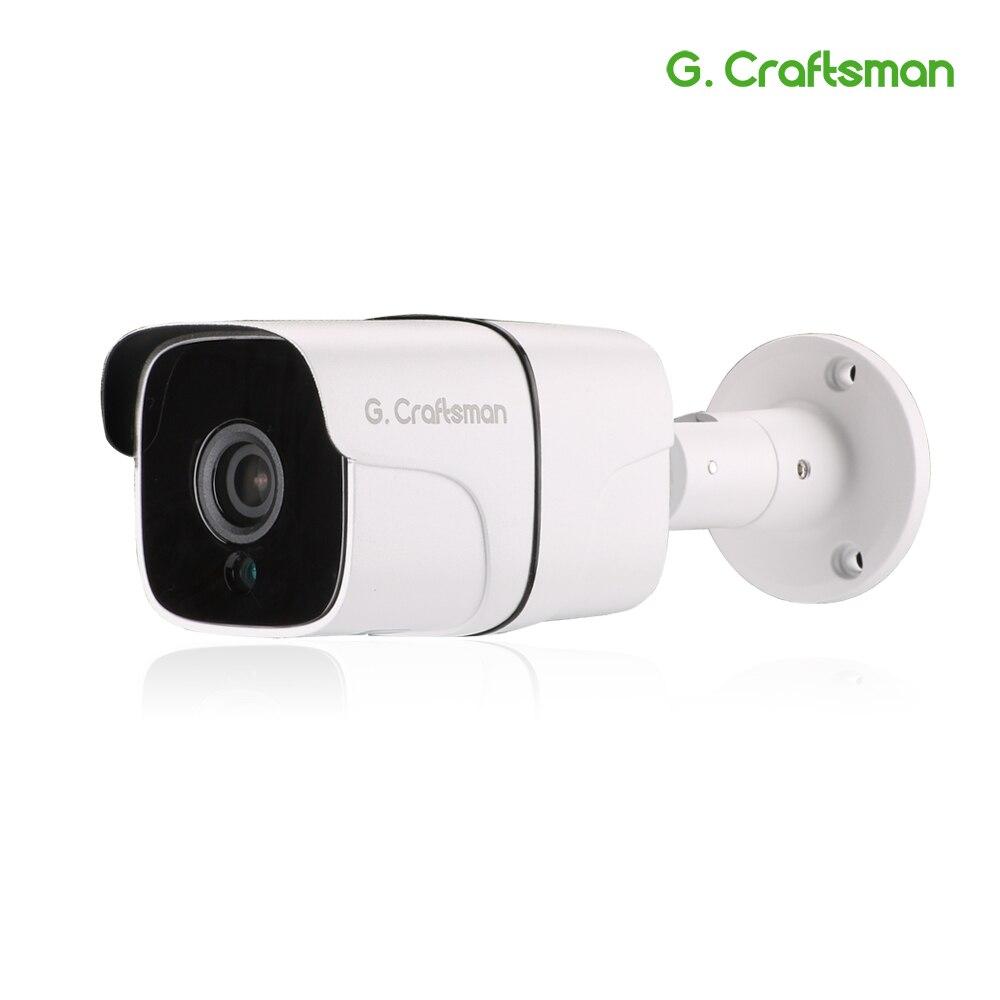 G. Artisan Audio 5MP POE IP caméra extérieure étanche infrarouge Vision nocturne Onvif 2.6 5.0MP CCTV vidéosurveillance sécurité