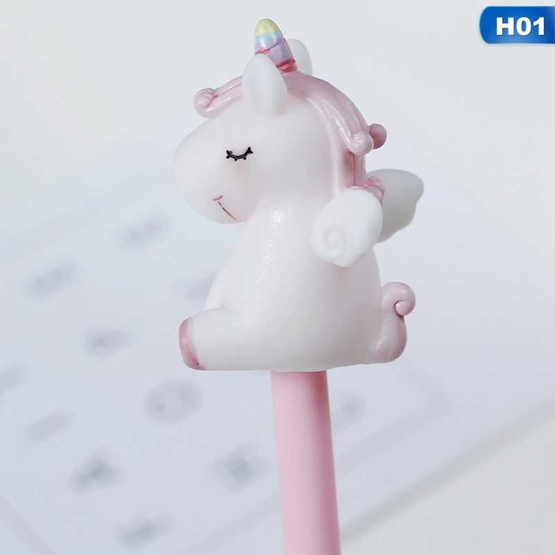 Креативный прекрасный единорог ПВХ гелиевая ручка, Новинка 0,5 мм чернильная нейтральная ручка для письма дети подарок офисные школьные канцелярские товары
