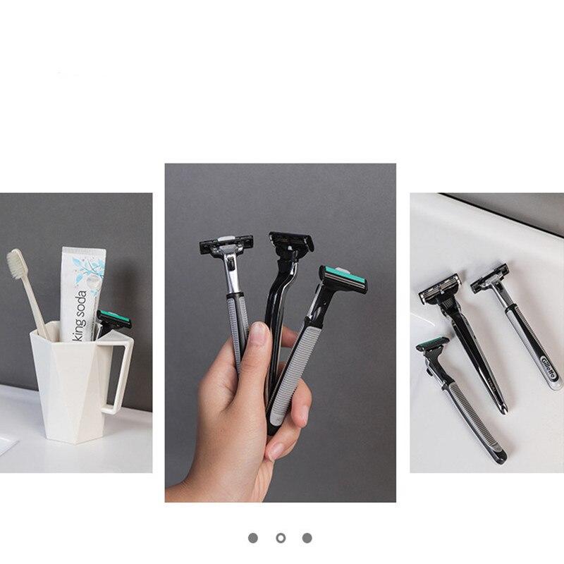 Image 2 - Pongee Beard Shave Knife Rack Boring Hook Bathroom Organizer Wall Mounted Type Hook Bathroom Organizer Accessories Wall BathroomHooks & Rails   -