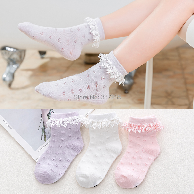 6 Pack Baby Girls Boys Ultra-thin Mesh Hollow Out Knee High Stockings Anti-moaquito Tube Socks For 0~3T Kids