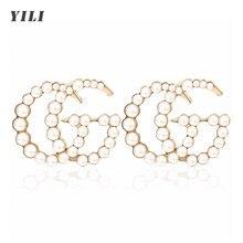 G carta brincos de cristal branco pérola brincos alfabeto strass nome brincos moda piercing jóias feminino presente